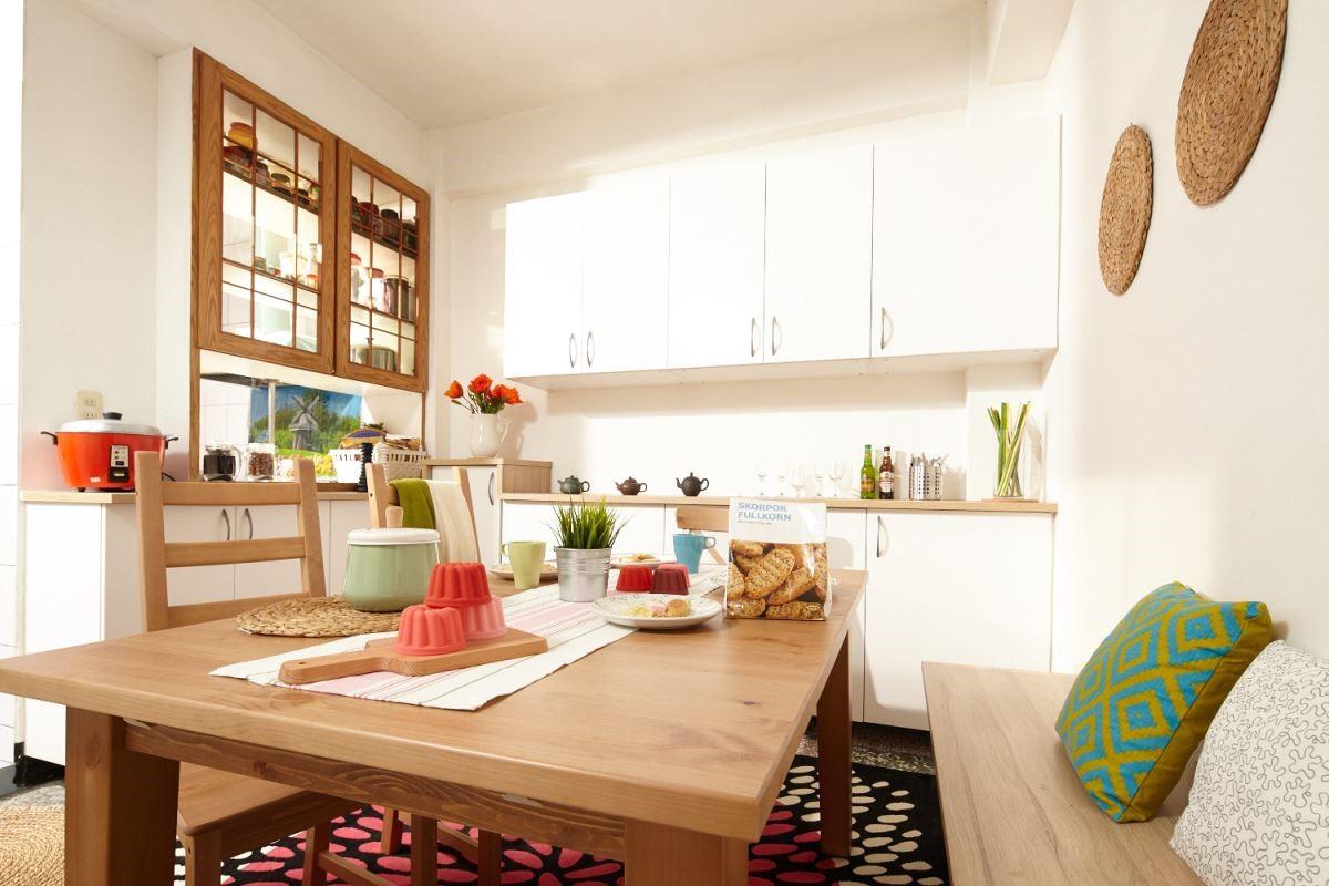 透過適當的顏色搭配,營造出另一種居家風味。攝影_黃暉中