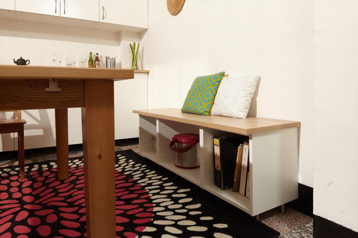 善用每一吋的空間,經由隨心所欲搭配的櫃體,讓居家充滿獨特風格。攝影_黃暉中