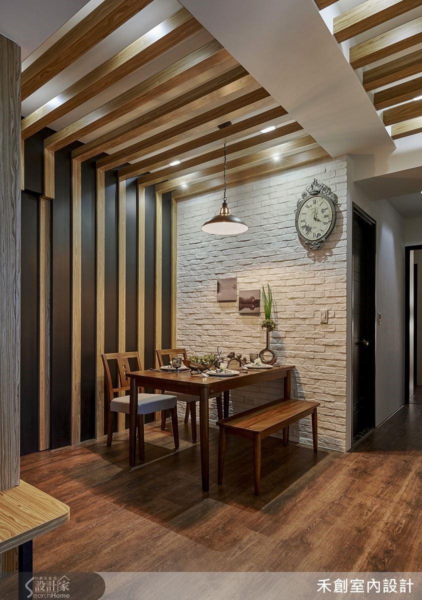 利用跳色與異材結合,木作空間也能沉穩中展現輕盈的一面。