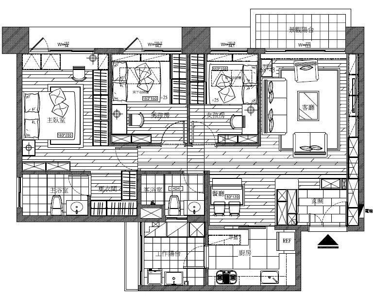 平面圖片提供_禾創室內設計/禾捷室內裝修設計