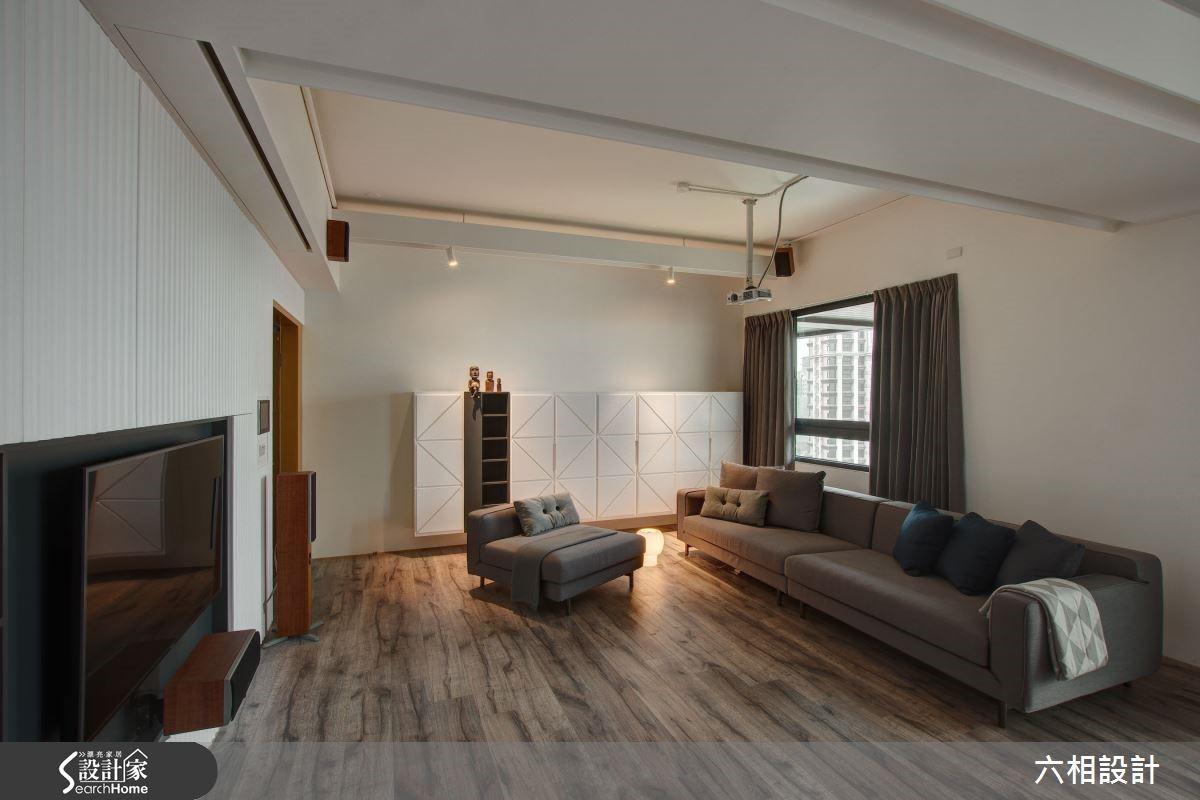 以超耐磨木地板舖陳整體空間,創造令人好感度倍增的第一印象。