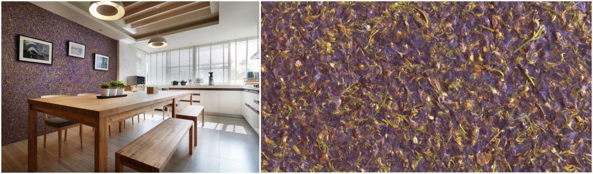 將紫色飛燕草定格在最美的那一刻,為空間引進綻放的色彩,讓每一塊花草板都獨一無二