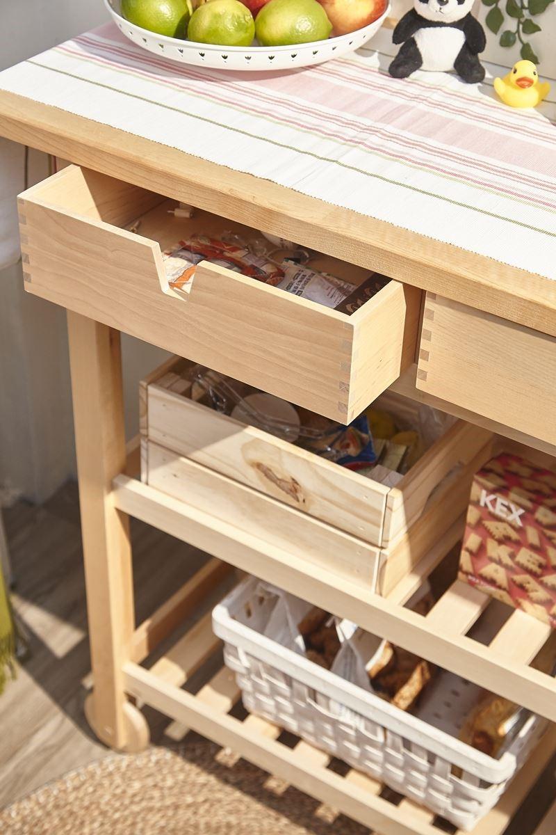 運用家具櫃體:IKEA FÖRHÖJA 廚房推車NT.$3,490元