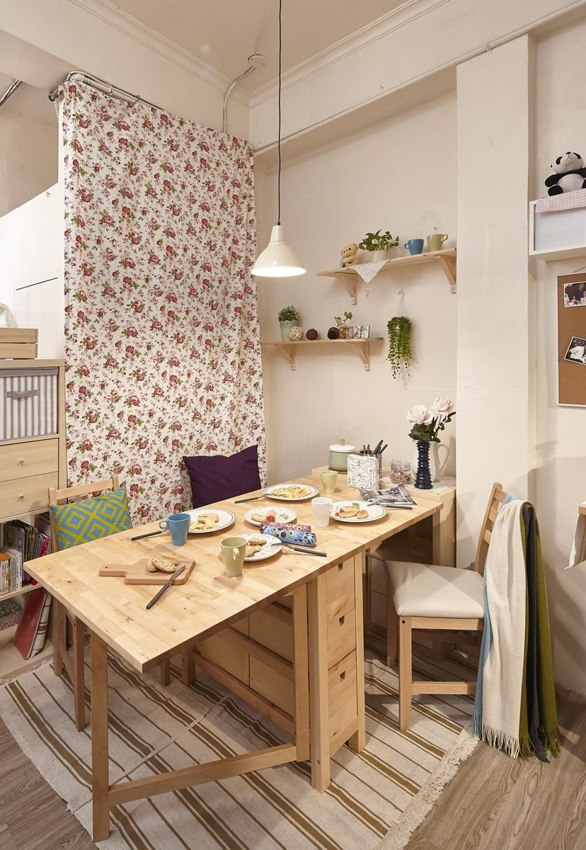 運用家具櫃體:IKEA NORDEN折疊桌NT.$7,990元