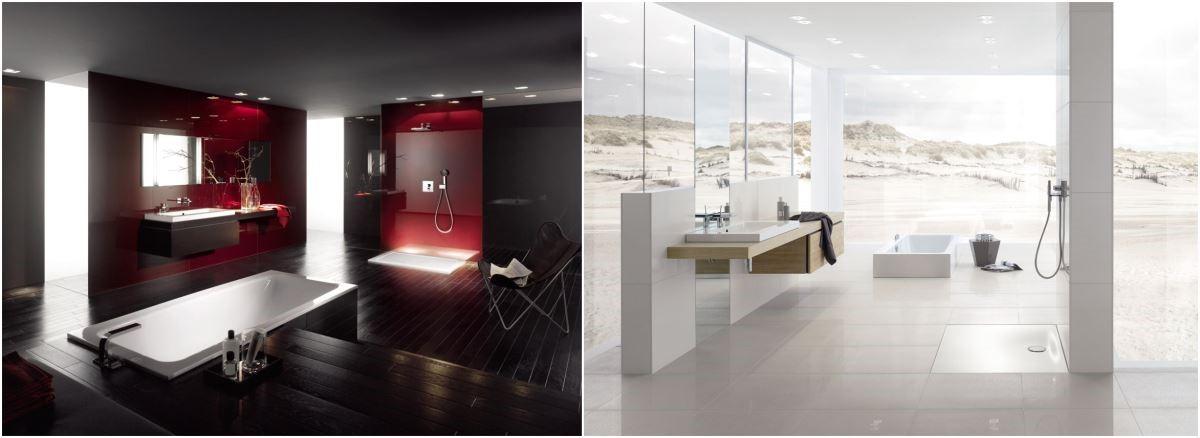 BETTEFLOOR及BETTEFLOOR SIDE系列,「平面式」淋浴區設計,讓浴室內部設計搭配更具整體性,加上無接縫的設計,創造更潔淨衛生的無障礙衛浴空間,共有60多種尺寸及超過1000種顏色可供訂製搭配。