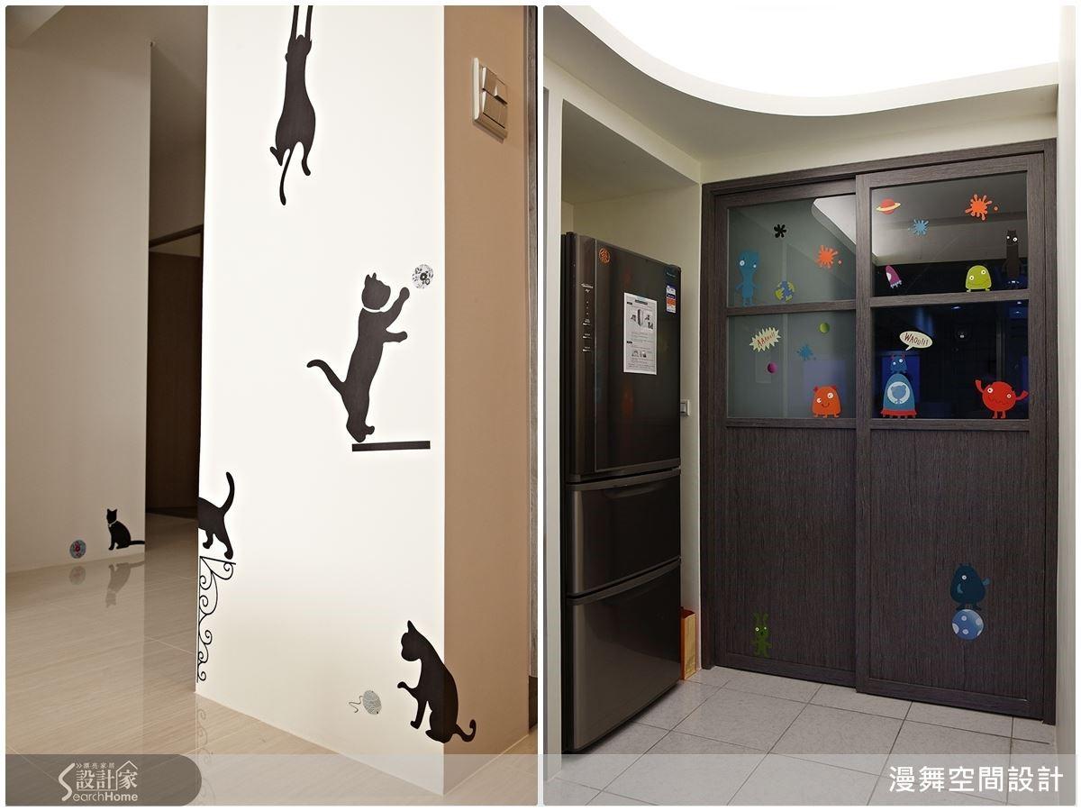 市面上壁貼種類眾多,也適用於玻璃、木材、水泥牆等不同面材上,隨處都可發揮創意想像!