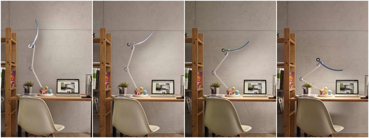 燈體可承受自 35 度至 120 度的大幅度變化,是否宛如變形金剛呢?