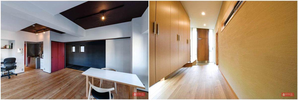 許多設計師也會建議業主使用 JULUX 居樂家功能型系列珪藻土做為壁材,包含住宅空間及商業空間。