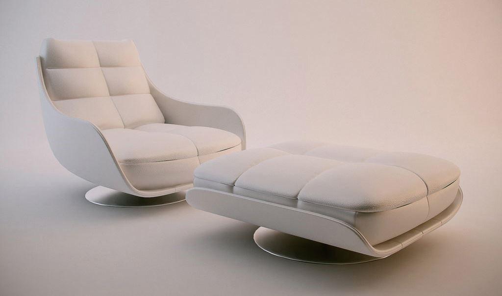 GINGA 具 360 度旋轉椅身,細膩的手工車格縫線,氣派而優雅的設計,勇奪單椅王美名,不論放客廳當主人椅或作為書房閱讀椅都很適合。