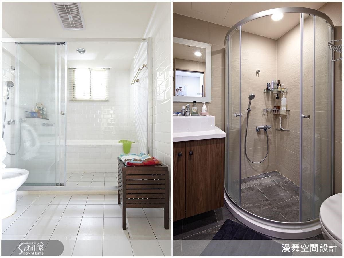 輕裝修奧義在於將預算花在刀口上,例如在衛浴的規劃上可以局部更新為方便清潔、整理與保養的磁磚,或者是利用角落打造乾濕分離的衛浴設備,都是輕鬆讓空間變方便的好方法。