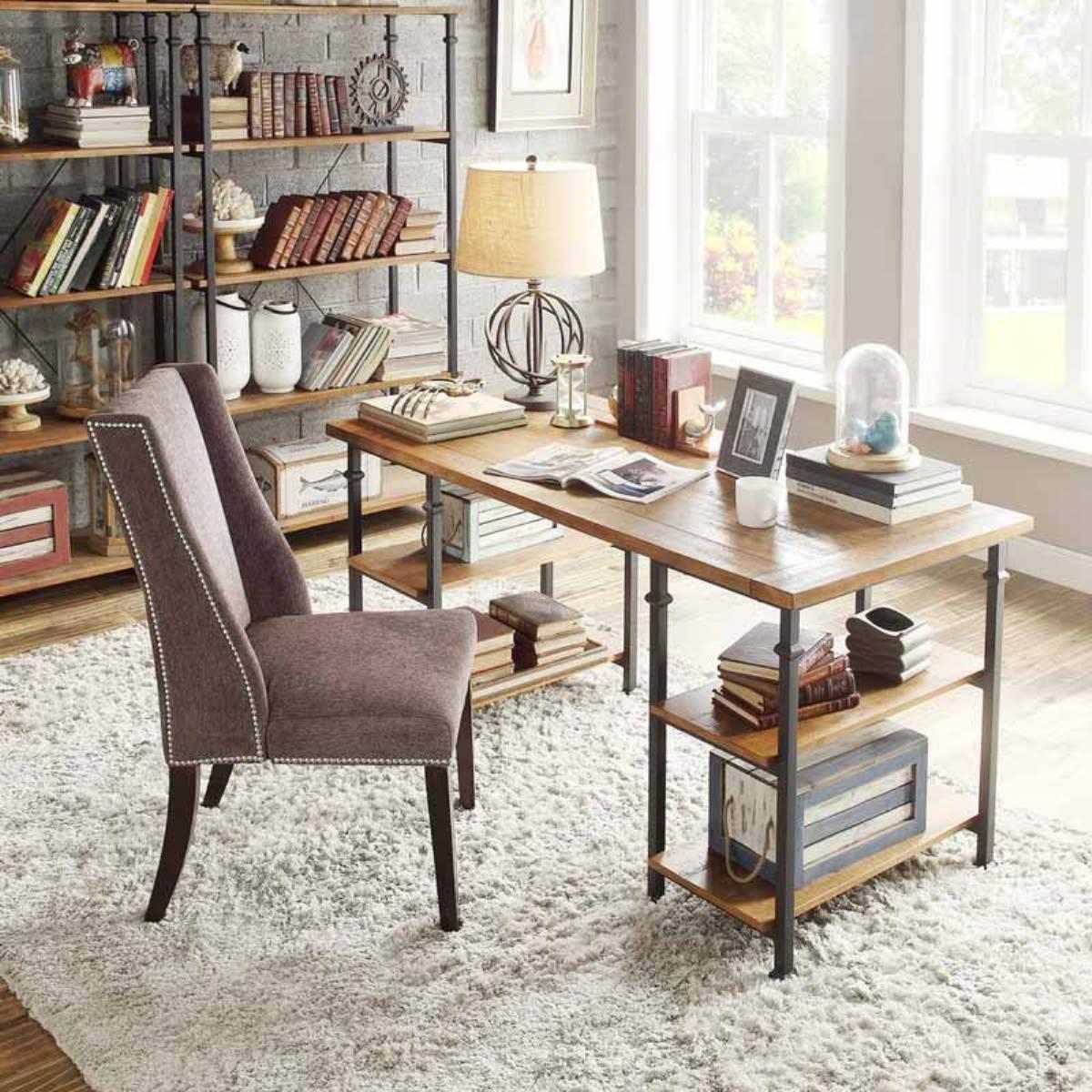 工業風原木書桌
