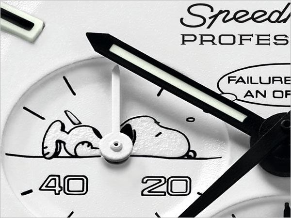 歐米茄超霸阿波羅 13 號史努比銀獎腕錶上的插畫。