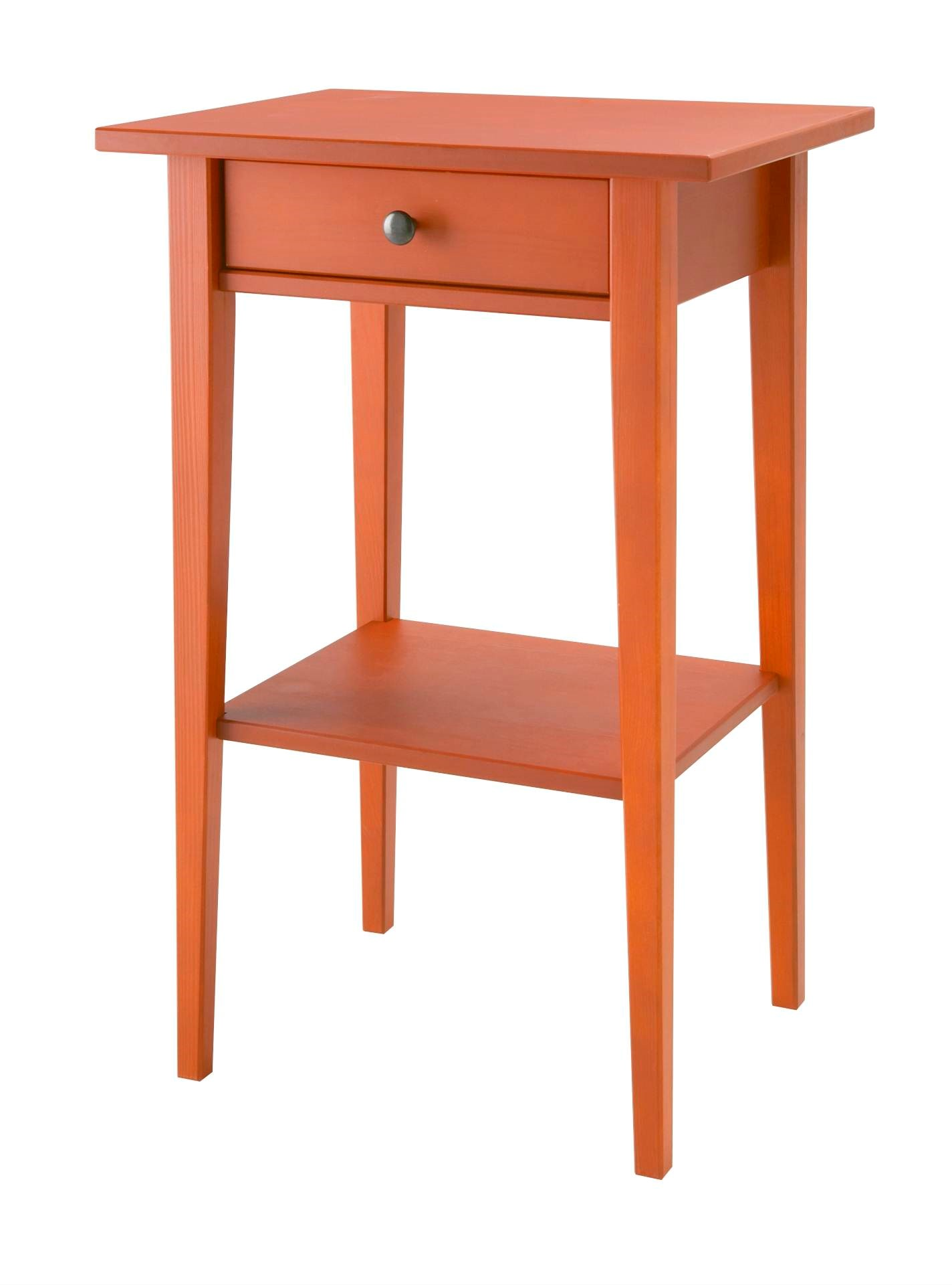 HEMNES紅色床邊桌_原價$1,995/特價$995  圖片提供_IKEA