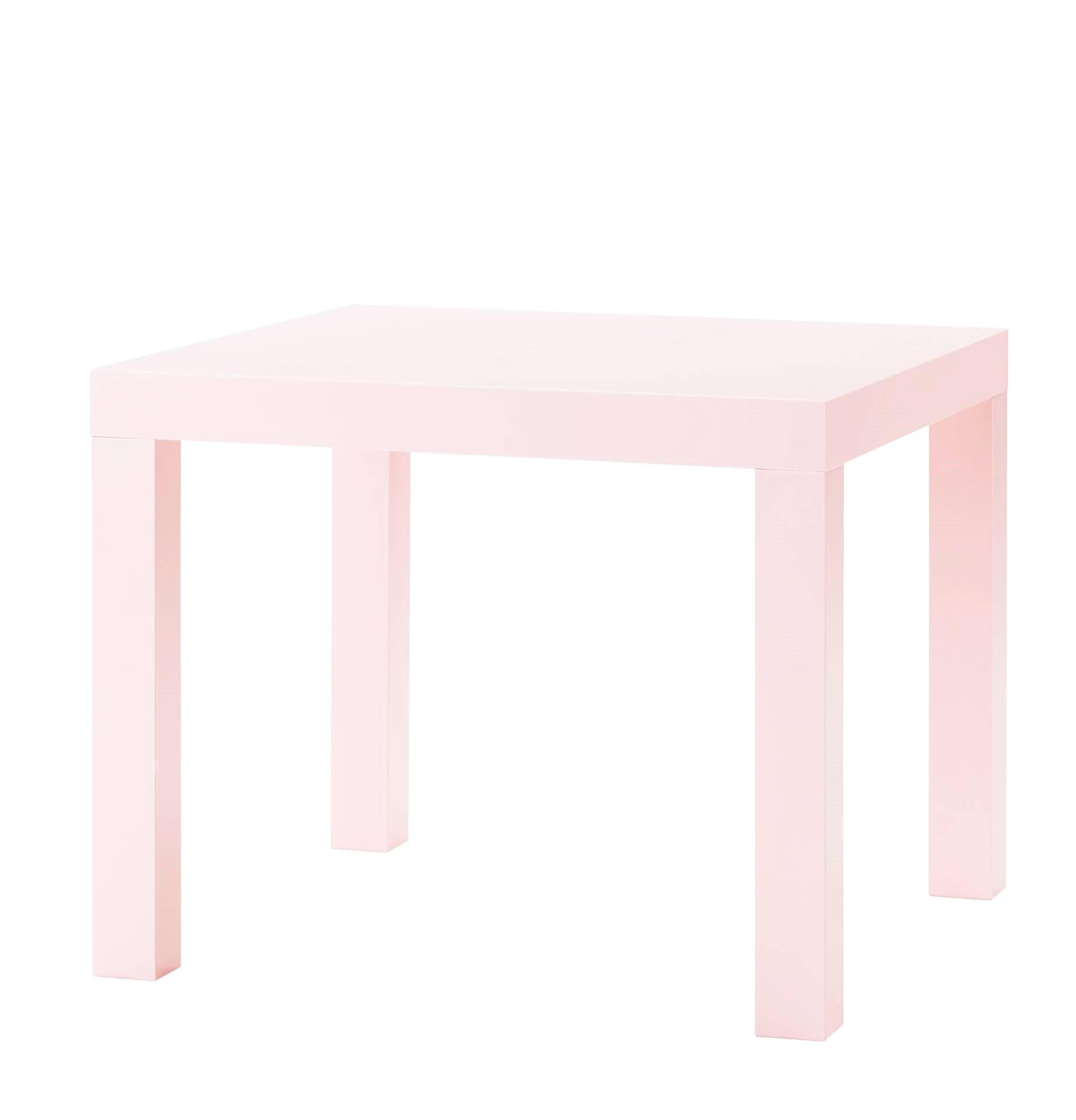 LACK粉紅色邊桌原價$399/特價$249  圖片提供_IKEA