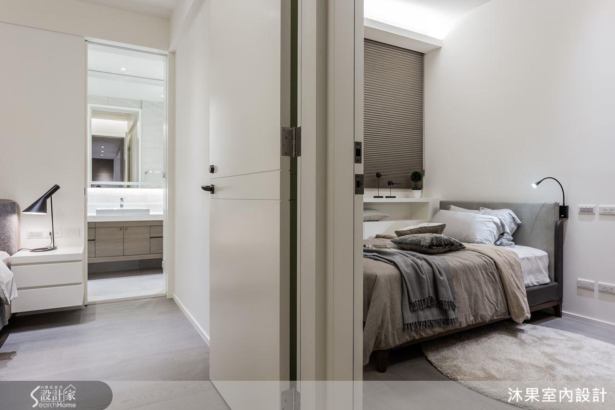 完美的基地條件,精心微調變更臥室門扇位置,換出完整收納空間,極大化收納功能。