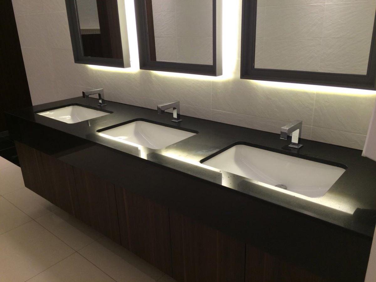 矽鋼石可以運用在各種設計,提升空間質感。