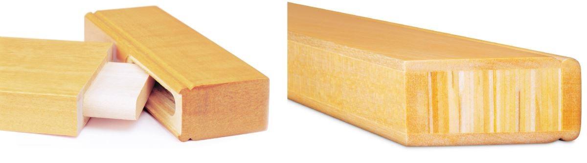 在窗扇接合處使用「榫接設計」,確保產品的結構穩定耐用,且在拼接定型豎柱時運用高壓、高溫的特殊處理製程,層層壓縮緊密豎柱內部木頭,打造產品絕佳的支撐力與耐用度。