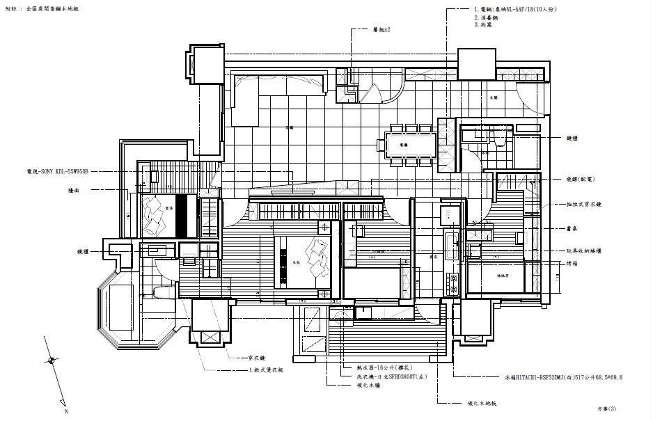平面圖片提供_震騰室內裝修設計