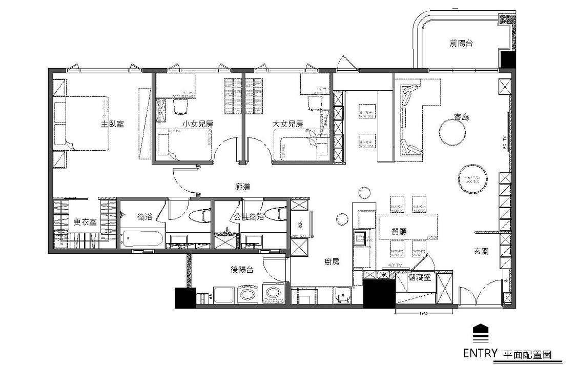定案後的平面圖_耀昀創意設計提供