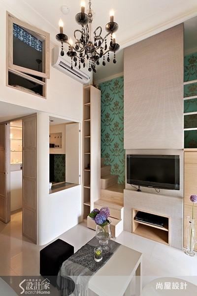俐落線條、合宜色調,並保留挑高優勢與局部夾層設計,讓 7 坪空間毫不擁擠。