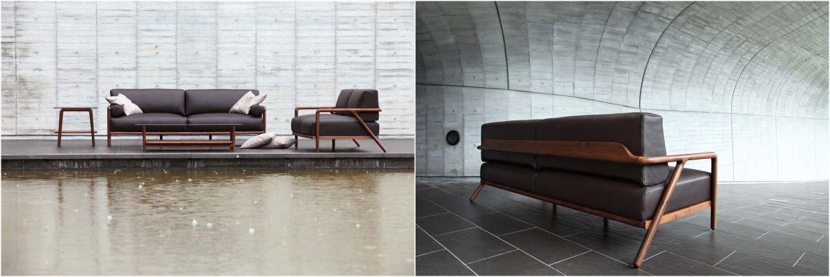 採用北美胡桃木作為素材的 VIC 沙發,結合西方簡約與東方婉約,圓弧卻又俐落的線條,適用於多種風格的居家裝潢。