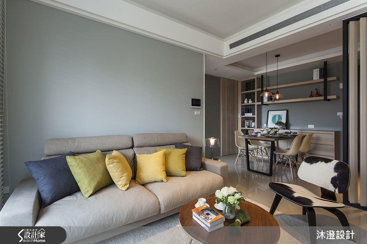 利用彩度較低的油漆,搭配溫潤的木元素,散發低調優雅的氣息。