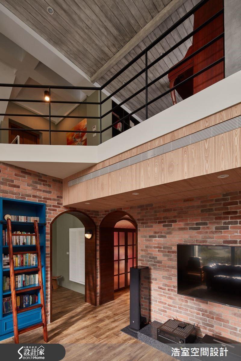 圖 01 一致性的復古懷舊元素貫穿一樓與二樓空間。
