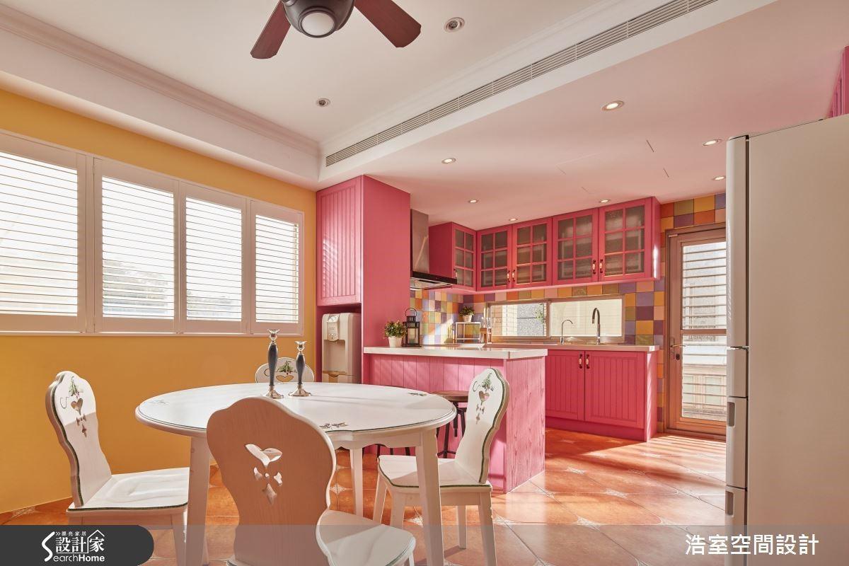 圖 04 餐廚空間彷似糖果屋概念,全家繽紛團聚小天地。