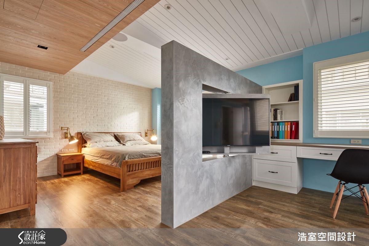 圖 06 主臥室設計定調有療癒與娛樂機能。