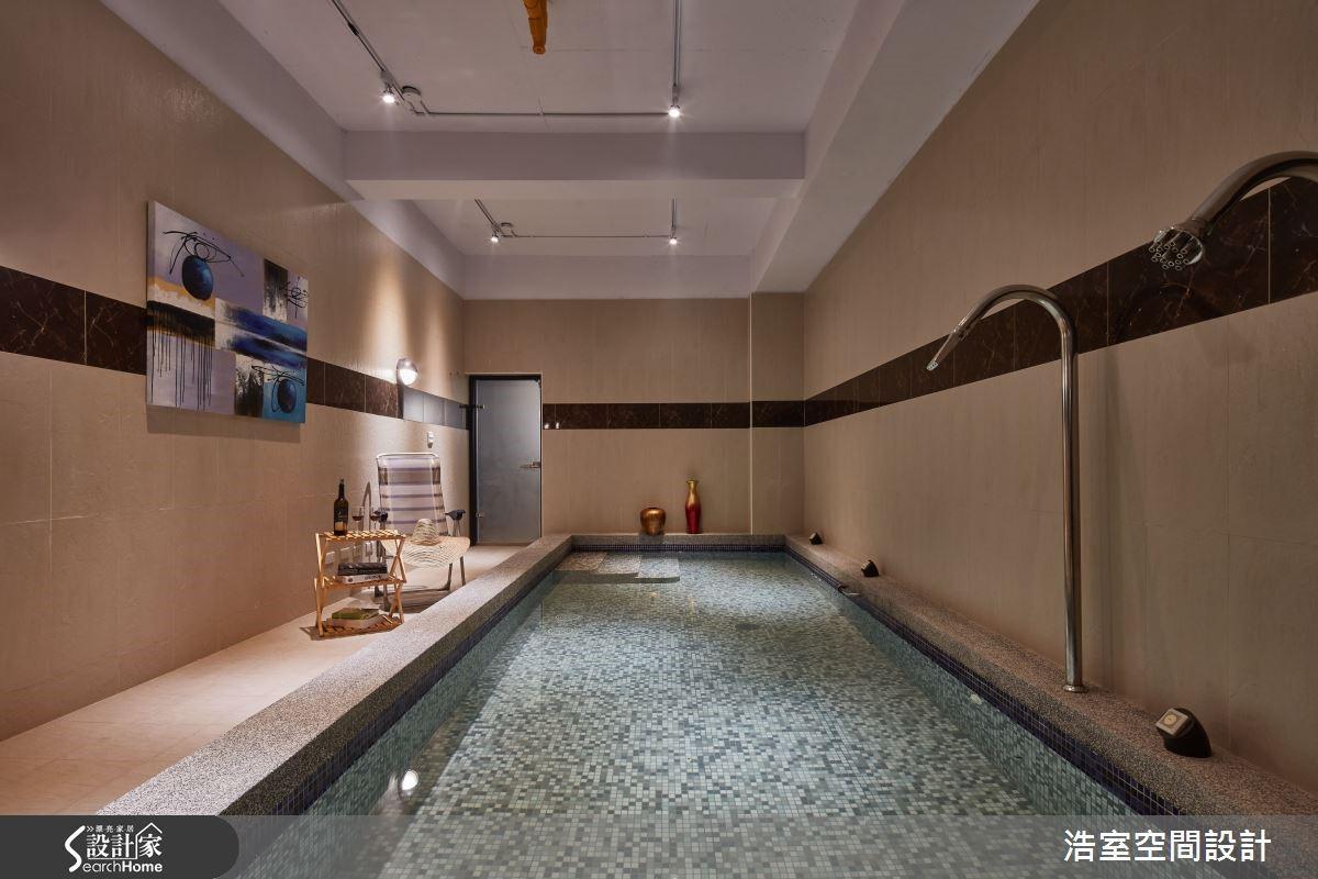 圖 11 地下室的SPA池,滿足全家人放鬆需求。