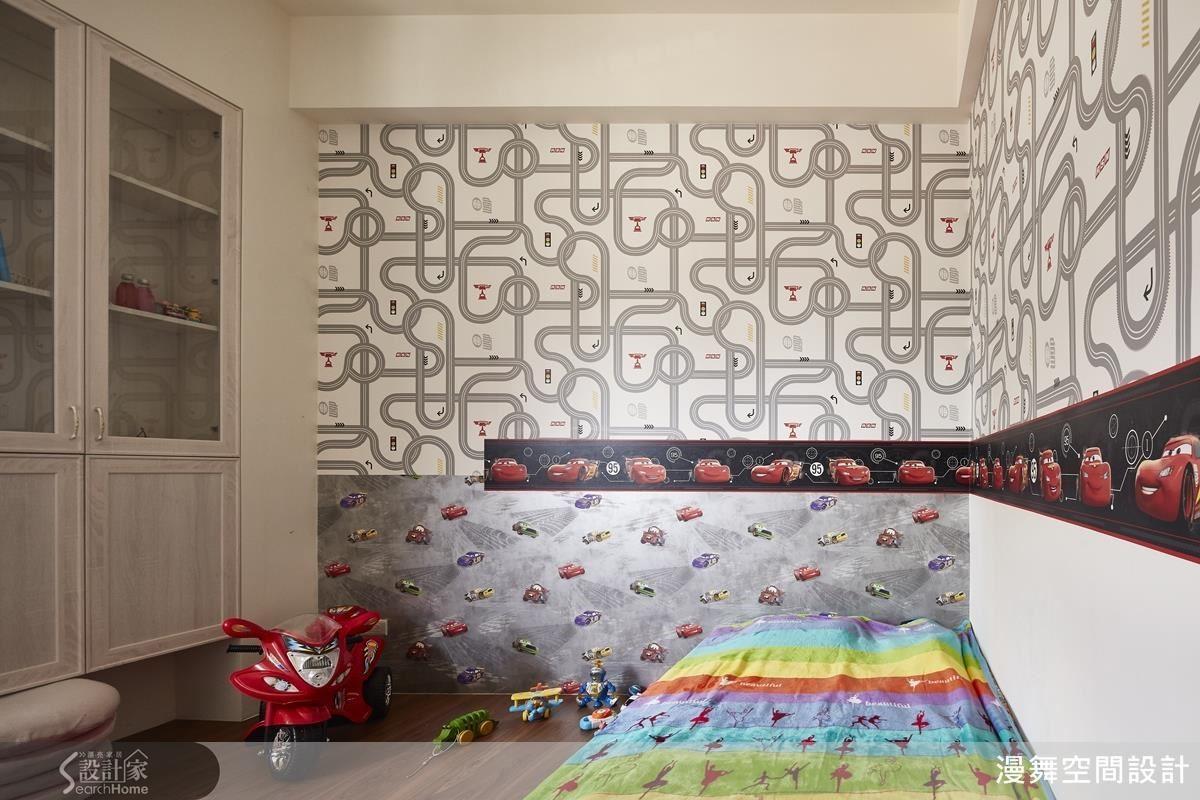 設計師尊重小主人的喜好,以主題性打造小孩子夢想中的生活空間。