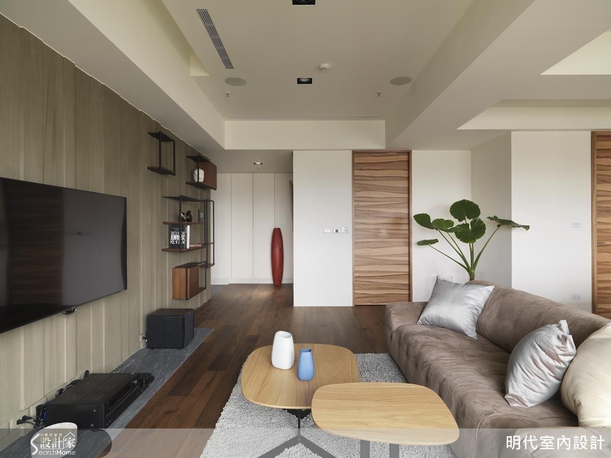 30坪兩房兩廳,是一位單身男主人獨享的自然休閒居。