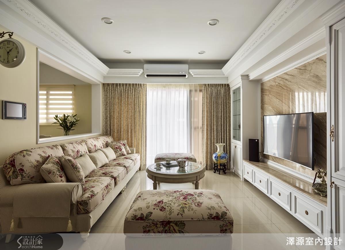 整體設計採取開放式設計,保持流暢動線之餘,也維持住家空間的開闊與通透感。