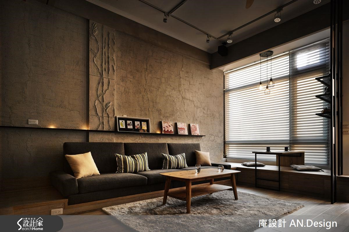 利用冷暖色調交織的建材,搭配線條與日光,為公領域創造獨一無二的美感。