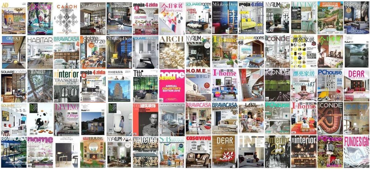圖為甘納設計近年受邀發表的國內外媒體雜誌,堪稱外媒眼中「台灣新生代設計力」的代表,創意爆發能量驚人。