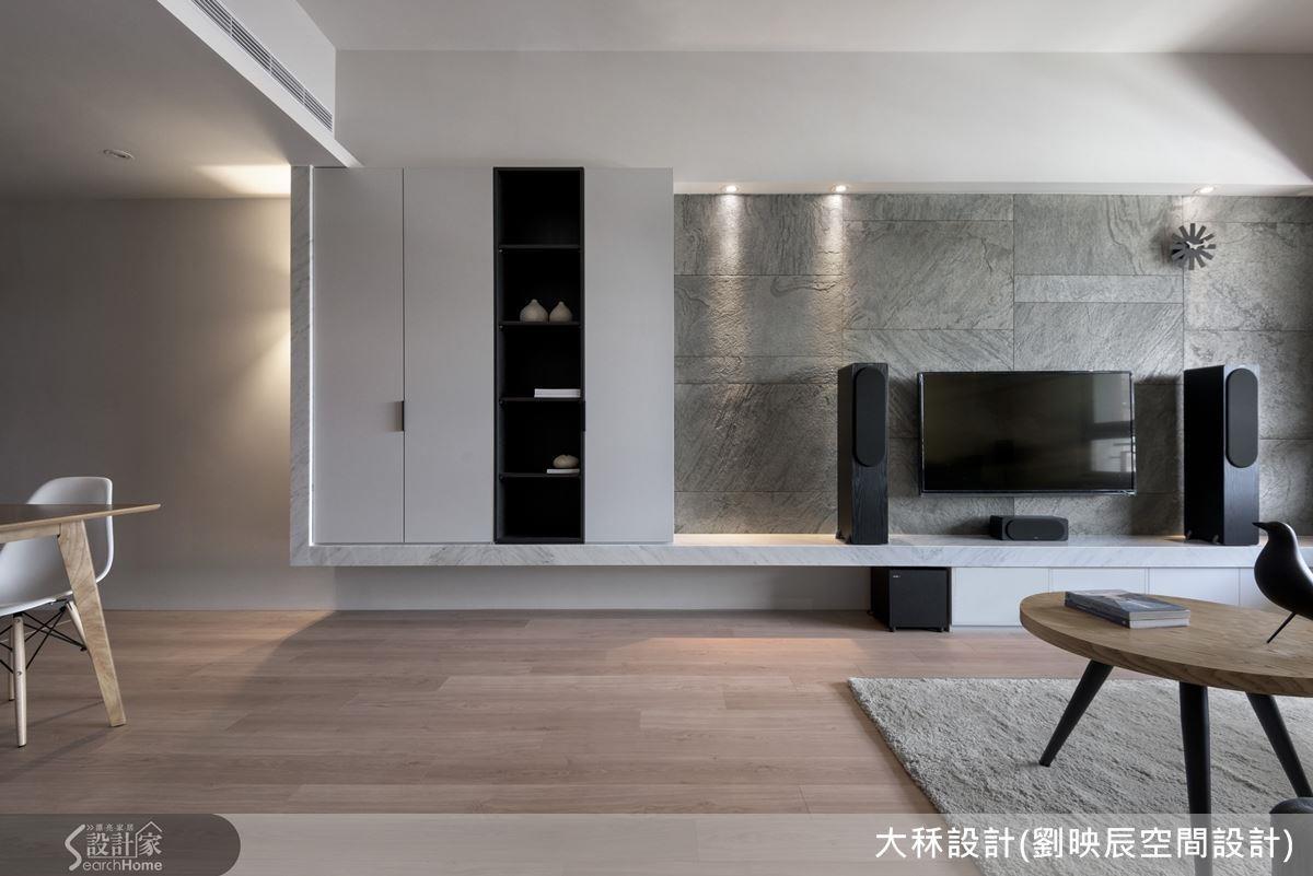 利用石材本身的色調與觸感,就能成功打造清涼視覺。