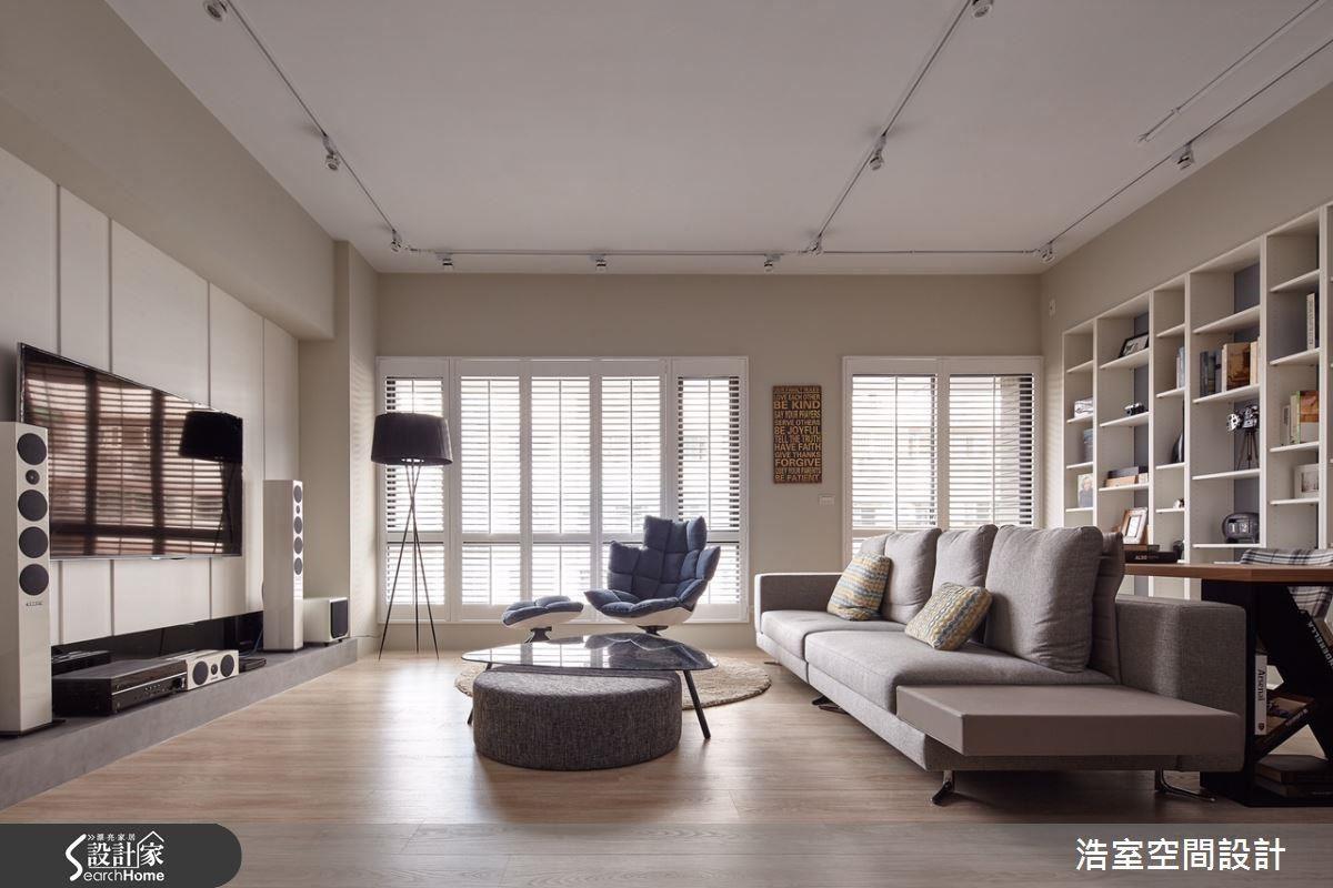 一樣是選用古典的線板做壁面造型,也可以利用現代的簡潔概念,做出很簡約很文青的風格。