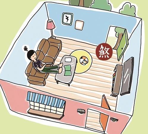 前後門窗一條線直通,讓家中旺氣進洩而出。插畫提供©黑羊