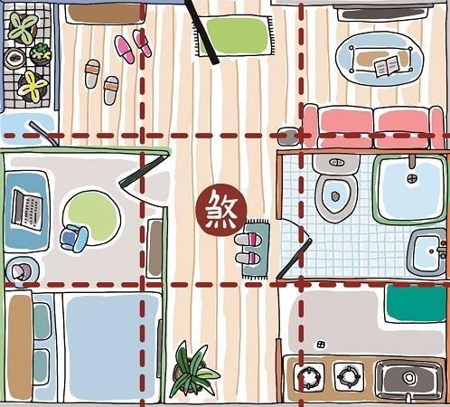 房子中央處若為走道,易使居住者奔波忙碌。插畫提供©黑羊