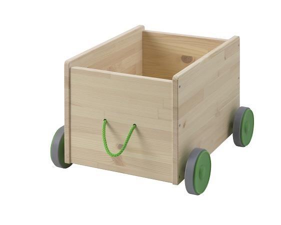 FLISAT附輪腳玩具收納箱,可讓小朋友收拾及移動玩具。圖片提供:IKEA。