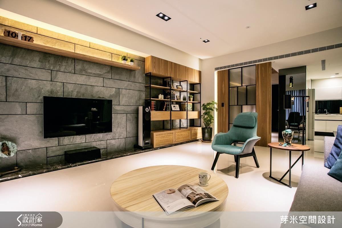 公共空間中藉由牆面統一色系,讓調性更具一致性,同時也帶出空間應有的舒適與氣度。
