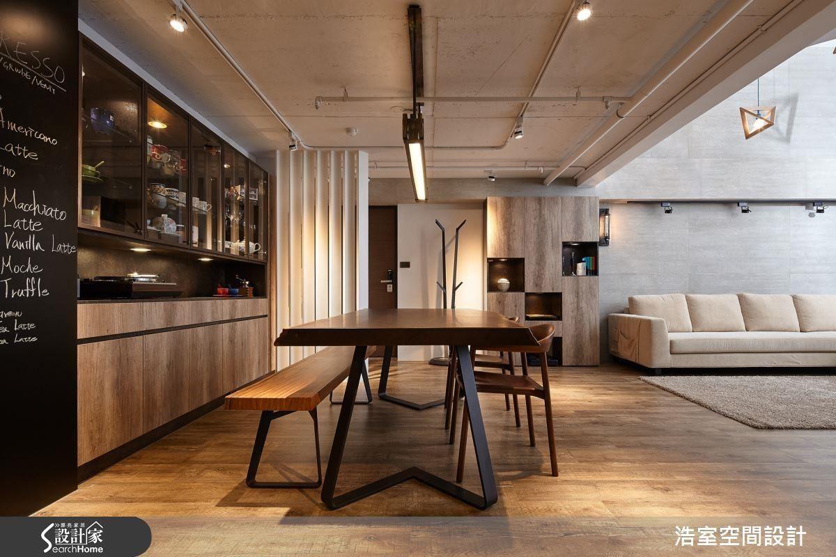 開放式的設計,讓光線與空氣自然流通,不拘小節的工業風空間,提供令人放鬆的悠閒氛圍。