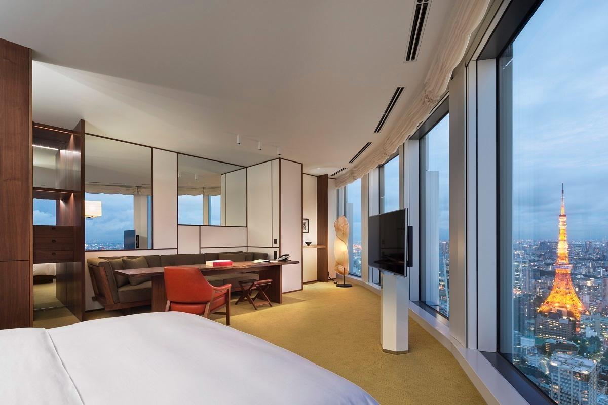 Andaz Tokyo Toranomon Hills房型,用顏色定義日式氛圍,形狀決定現代風格。