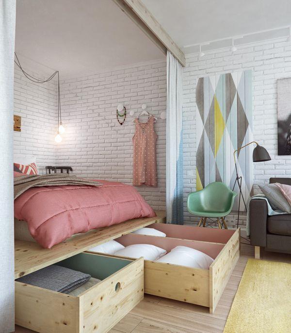 一次給你 12 個關於臥房收納的實用小建議,租屋處也可輕易利用現成家具做到唷!