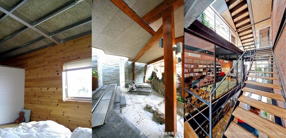 結合天然的木絲與波特蘭水泥的鑽泥板,猶如蜂巢狀排列之多孔隙構造,使鑽泥板在吸音性、隔熱性、調濕性的表現極為優越。