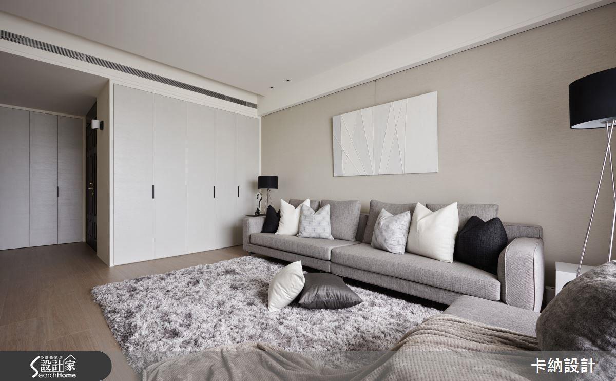 以簡練扼要的線條描摩現代空間的設計手法,俐落且直接展現空間自有的力道。