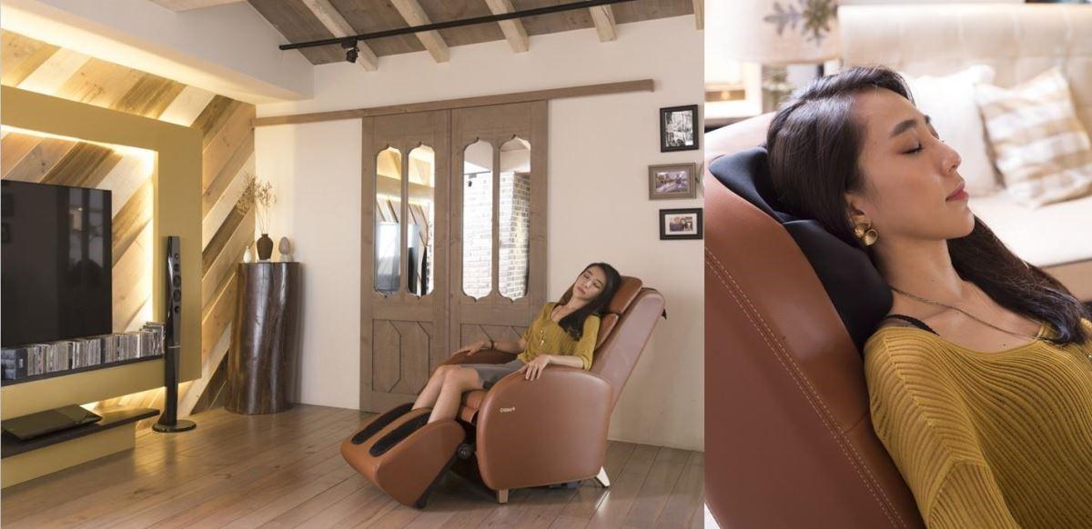 回家坐著按摩椅、邊看電視或聽音樂,是李佳鈺最喜愛的紓壓方式,尤其是「SPA 按摩」模式,能明顯感受減緩工作時所造成的壓力與痠痛。