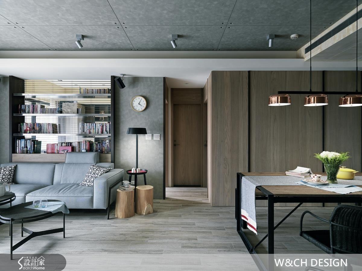 利用柔和的色系與原木材質,軟化工業風容易產生的冰冷印象,創造出兼具個性與生活感的居家空間。