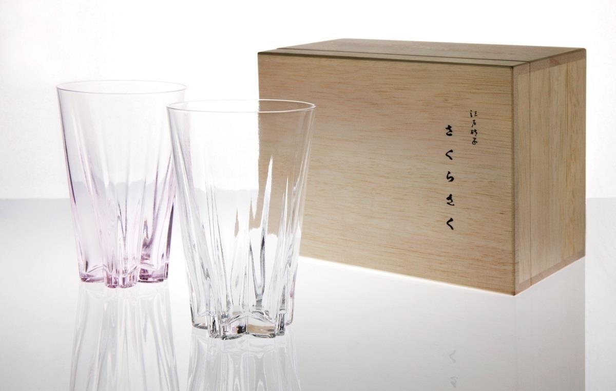 SAKURASAKU櫻花杯-一般2色組(透明&櫻花粉)箱$1,520。