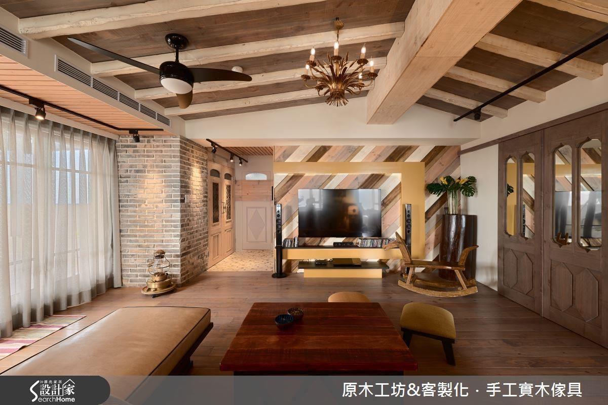 木質電視牆不僅溫馨,還能透過線條、色彩、質感,做出視覺上既乾淨又有層次感,同時與全屋相呼應的主角。